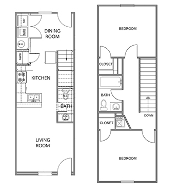 The layout of the Durango Townhome