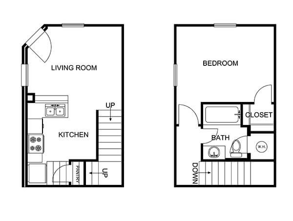 The layout of the Boulder Townhome