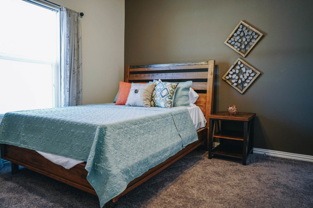 a picture of one of the bed rooms in the durango townhome